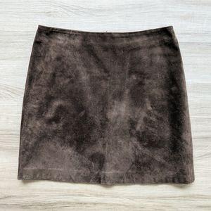 Vintage y2k chocolate suede mini skirt